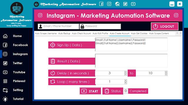 Cara Cepat Membuat Akun Instagram Secara Automatis