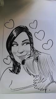 caricatura cachorro, caricaturistas ao vivo no papel