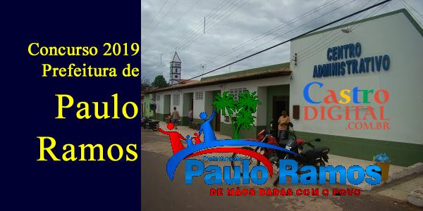 Edital do concurso 2019 da Prefeitura de Paulo Ramos - MA