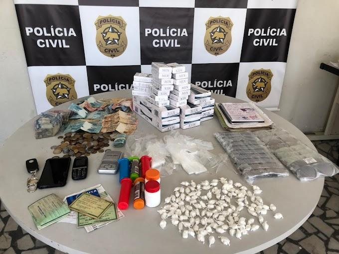 """Polícia Civil deflagra Operação """"Costa Branca"""" e prende seis suspeitos por tráfico de drogas e associação para o tráfico"""
