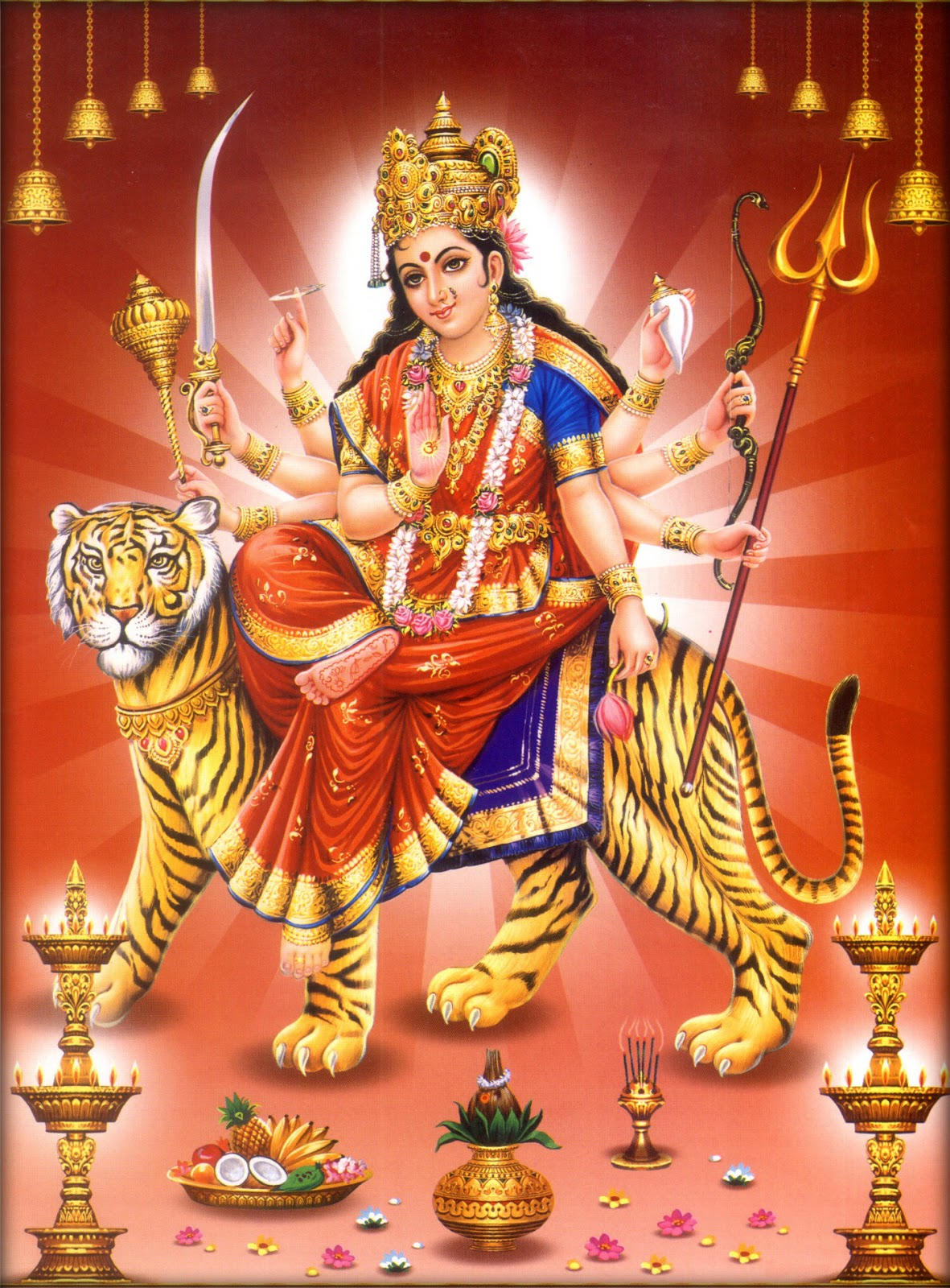 Maa Durga Hd Wallpaper Photo Images Krishna Ganesh