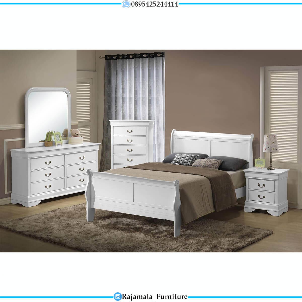 Tempat Tidur Minimalis Putih Duco Elegant Set Design RM-0639