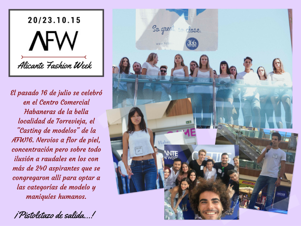 Alicante Fashion Week casting modelos