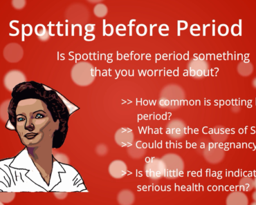 spotting before period