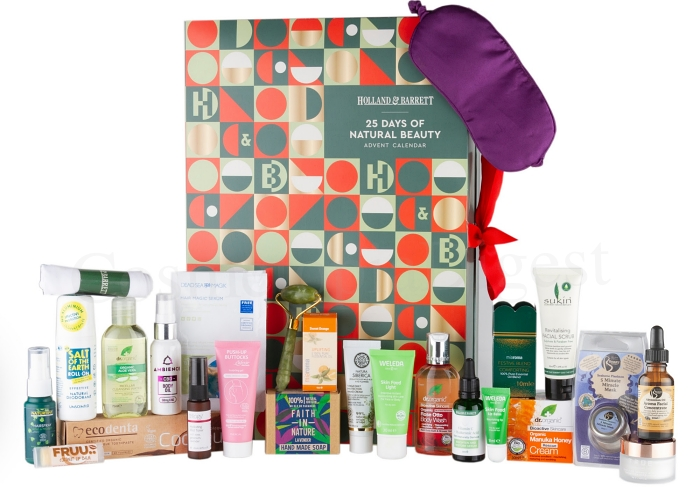 Holland and Barrett beauty Advent Calendar 2019 contents and spoilers