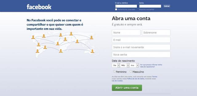 Como  criar uma conta no Facebook?