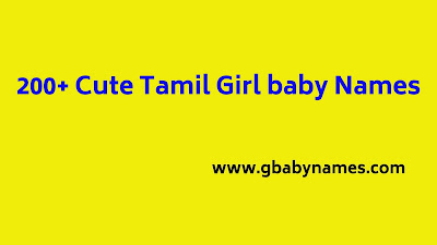 cute tamil girl baby names