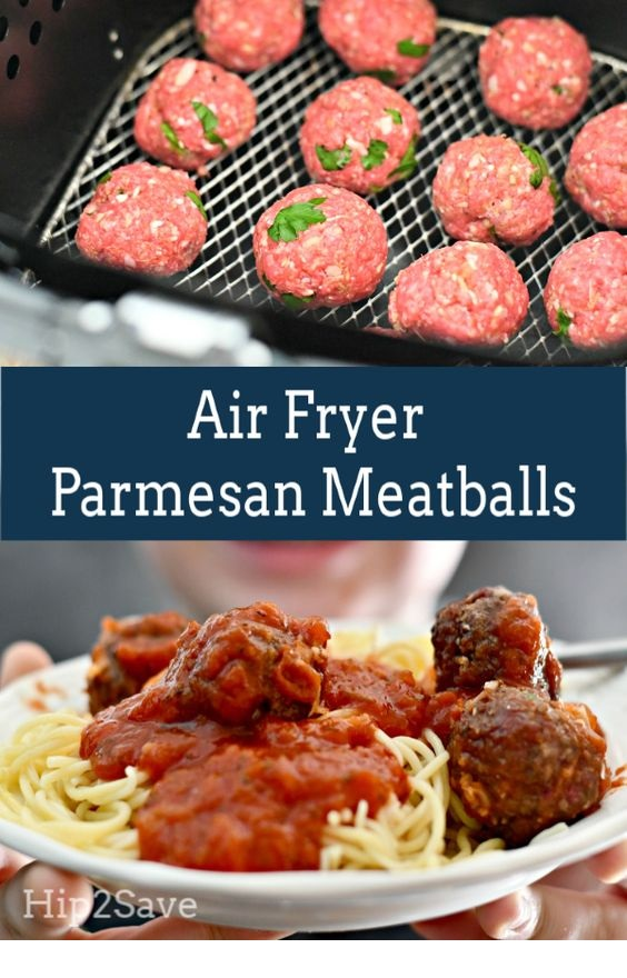 Air Fryer Parmesan Meatballs