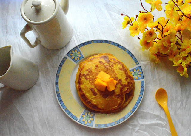 Eggless Mango Pancakes | Easy Pancake | Breakfast Ideas