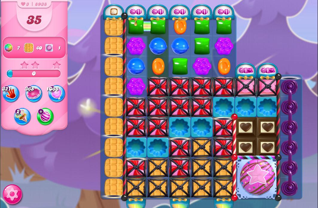Candy Crush Saga level 8938