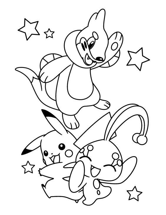 Tranh tô màu Pokemon 06