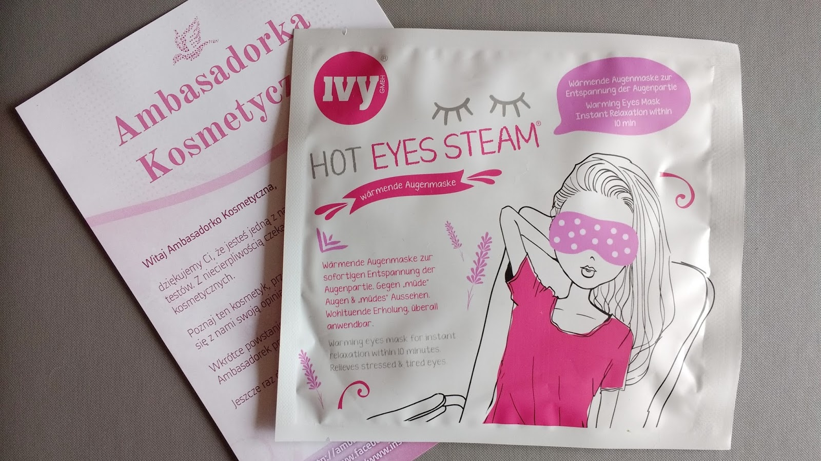 HOT EYES STEAM Rozgrzewająca maska na oczy