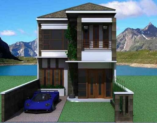 Contoh Model Rumah Minimalis 2 Lantai Type 72 Terbaru