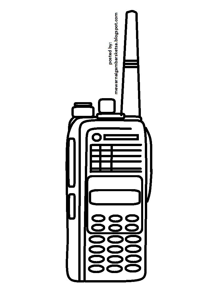 Mewarnai Gambar Alat Komunikasi Wwwtollebildcom