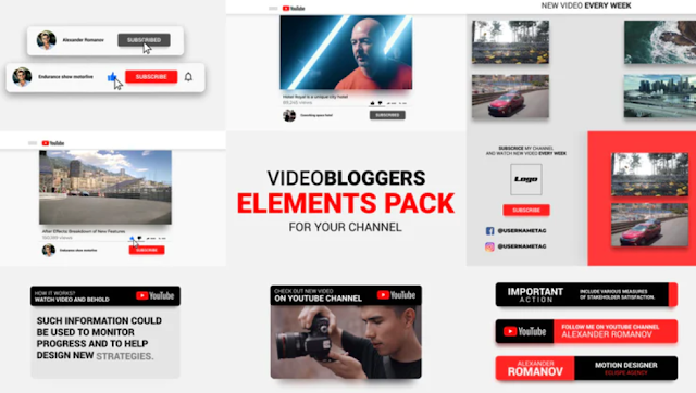 [GIVEAWAY] Youtube Channel Blogers Pack [After Effects Templates]