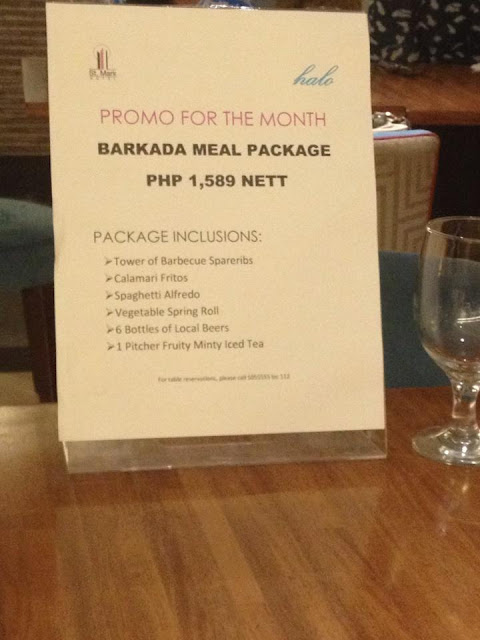 August 2015 promo of the month at Halo Restaurant at St Mark Hotel Cebu City Philippines