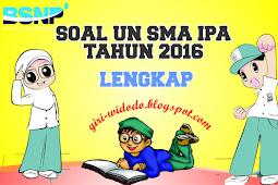 Download Soal UN SMA 2016 Jurusan IPA All Mapel