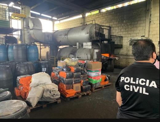 Maconha, cocaína e crack são incineradas em Itabuna