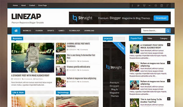 tema blog responsive