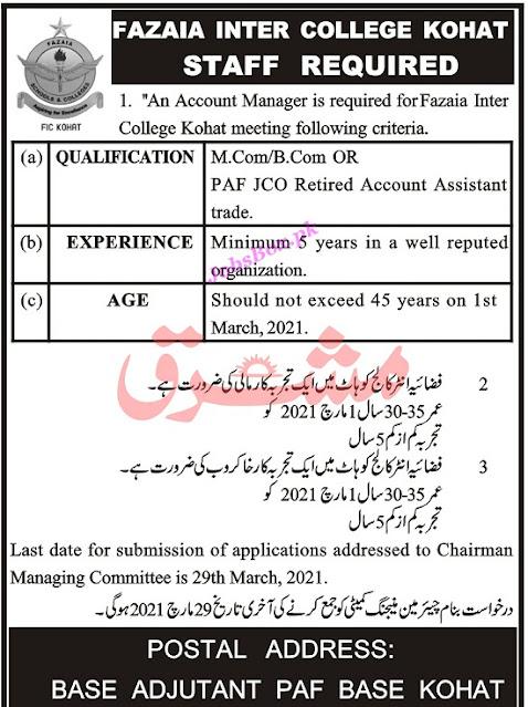 paf-inter-college-kohat-jobs-2021-application-form