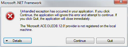 Mengatasi The Microsoft.ACE.OLEDB.12.0 provider is not registered