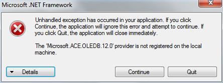 Mengatasi The Microsoft.ACE.OLEDB.12.0 provider is not registered