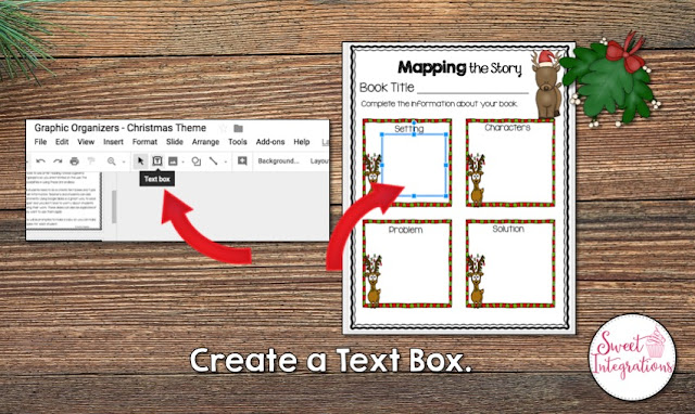 """Create a text box"" with where that is located and how it will look"
