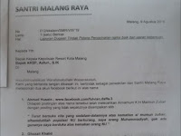 Tebar Kebencian, Akun Facebook AH & GK Dilaporkan Santri Malang Raya