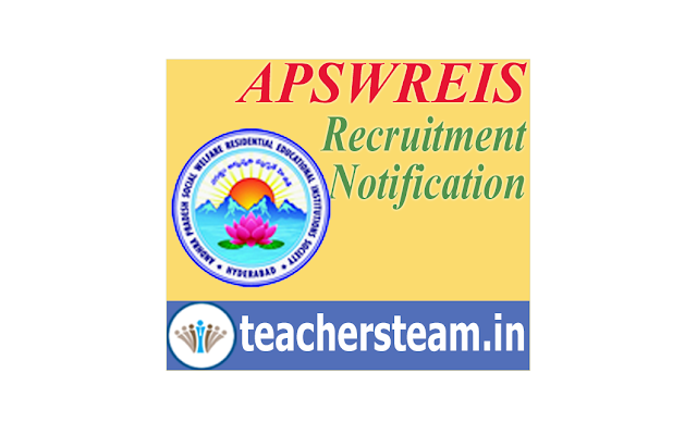 APSWREIS Recruitment Notification for the post of  Principal, Trained Graduate Teacher or Caretaker(Warden)