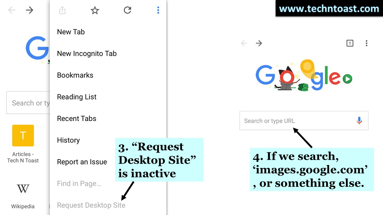 Mobile reverse image search
