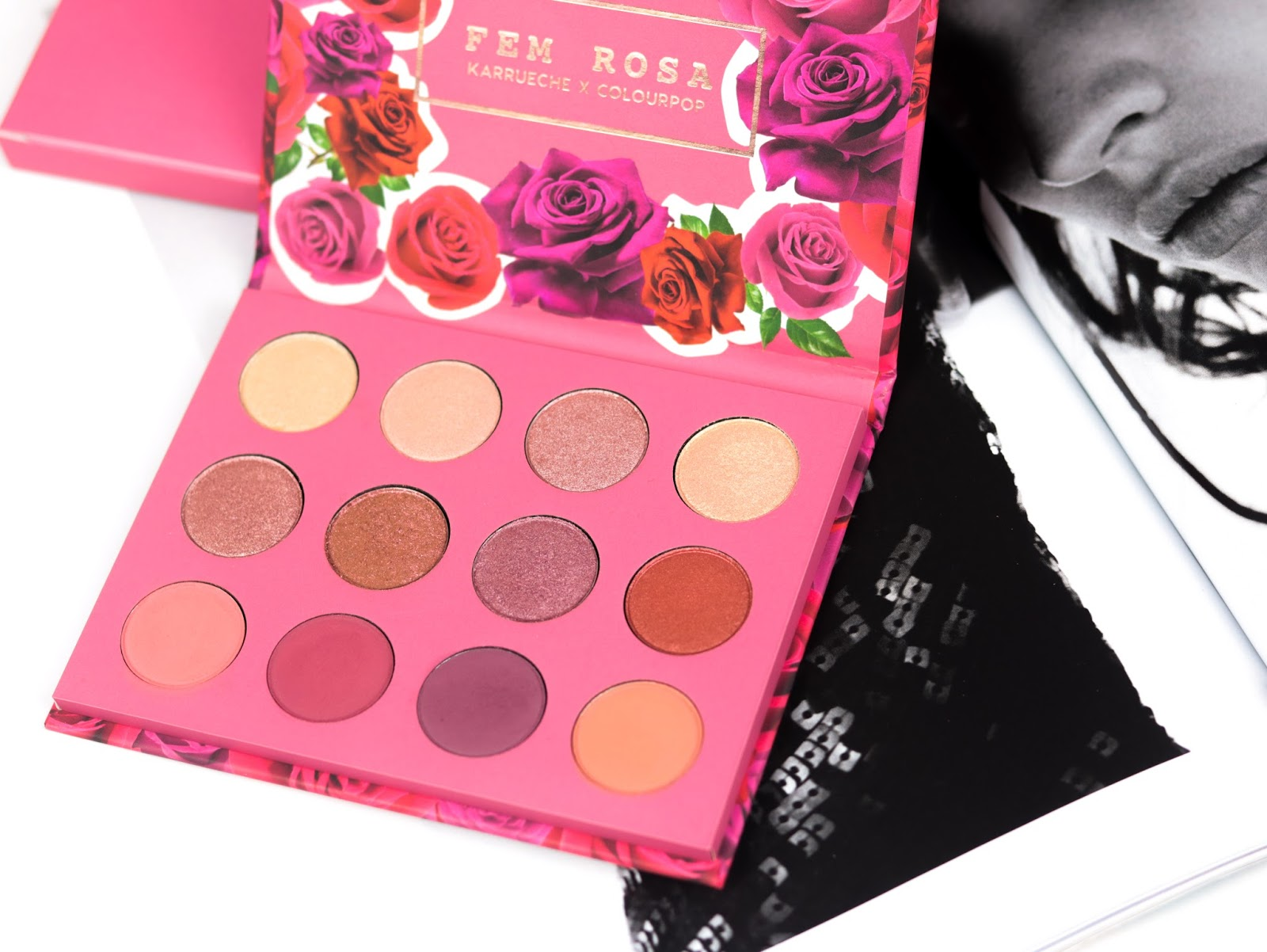 SHE Palette FEM ROSA Collection KARRUECHE X COLOURPOP Avis et swatch