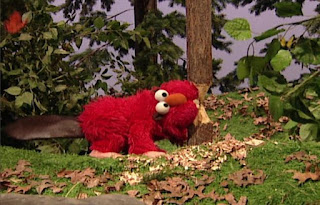 Dorothy imagines Elmo as a beaver with big teeth. Sesame Street Elmo's World Teeth Tickle Me Land