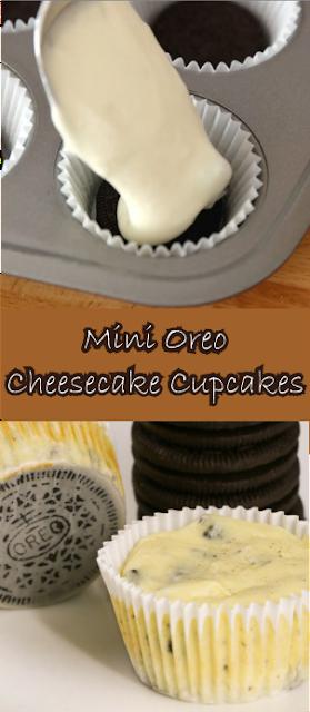 Mini Oreo Cheesecake Cupcakes