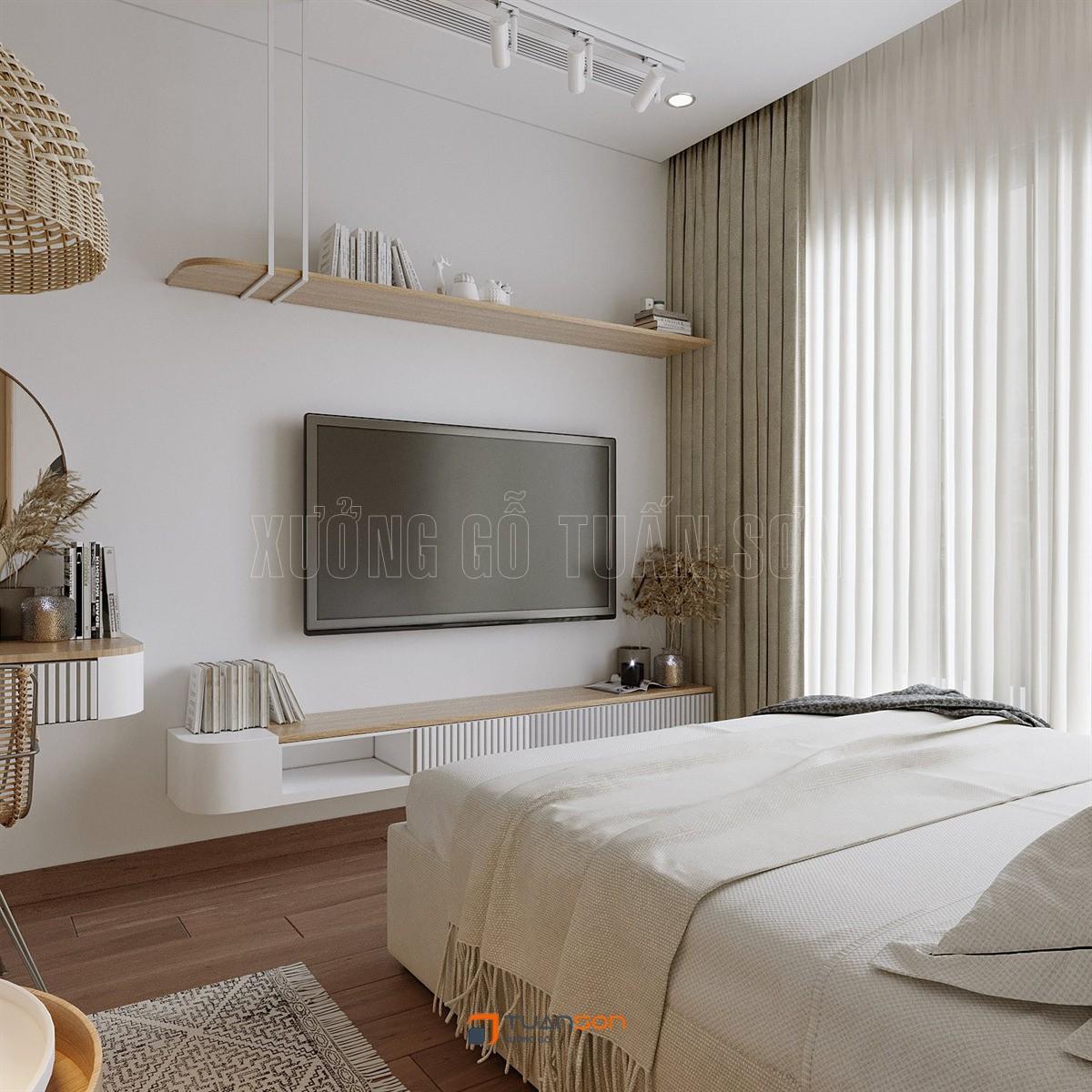 Thiết kế nội thất căn Studio (28m2) S3.03-16 Vinhomes Smart City