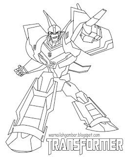 Mewarnai Robot Transformer 1 Mewarnai Gambar