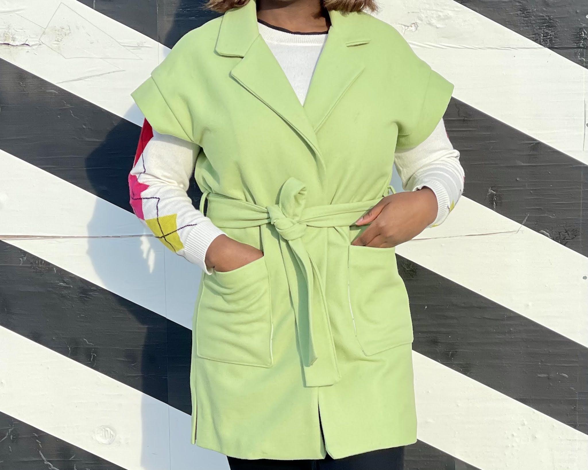 90/'s Spring Green Coat Ladies Pastel Green Vintage Coat Vintage Studio Works Lime Green Zip Up Spring Jacket Women/'s Chartreuse Jacket