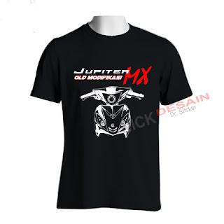 Kaos OJMX Hitam Motif Putih 1