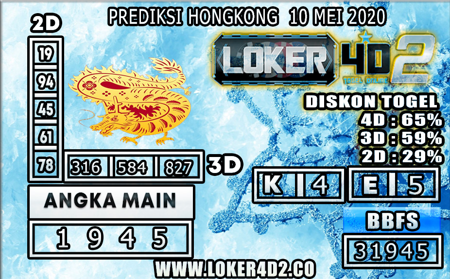 PREDIKSI TOGEL HONGKONG LOKER4D2 10 MEI 2020