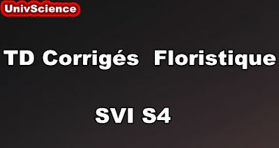 TD Corrigés Floristique SVI S4 PDF