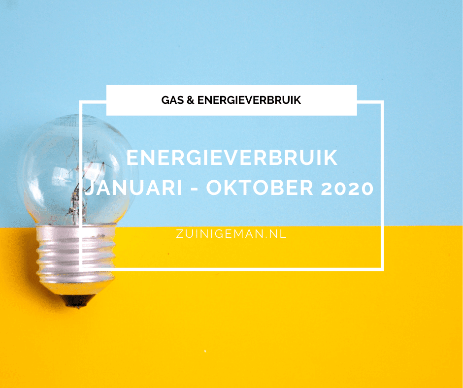 Stroom en Gas verbruik januari tot oktober 2020