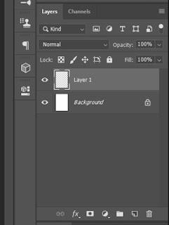 Gambar panel layer yang telah dibuat adobe photoshop