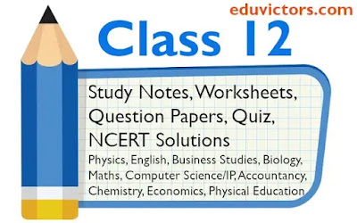 CBSE Class 12 Physics, Chemistry, Biology, JEE, NEET, Business Studies, Accountancy, Economics, Physical Education Study Notes and Question Papers
