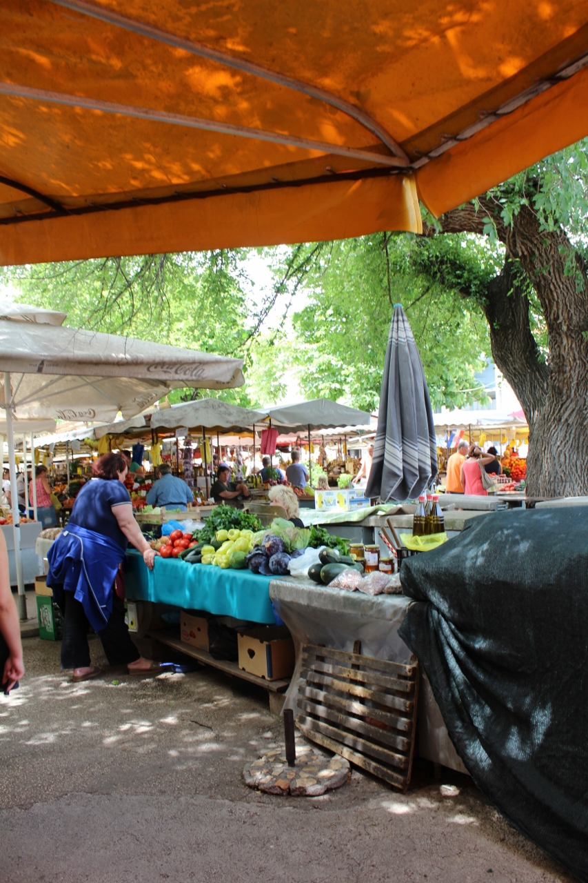 Marketplace at Trogir in Croatia