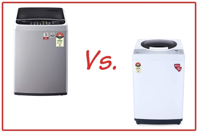 LG T65SNSF1Z (left) and IFB REWH (right) Washing Machine Comparison.