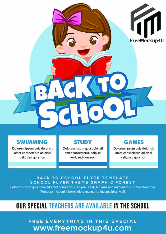 Back To School Flyer Template PSD Free