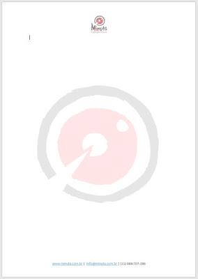 Exemplo de aplicação de logotipo em Papel Timbrado Digital Minuta Linguagem Visual
