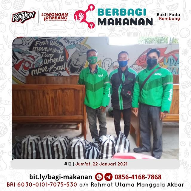 Dokumentasi Berbagi Makanan Ke-12 Dari Kedai Kongkow Rembang Dan Lowongan Rembang
