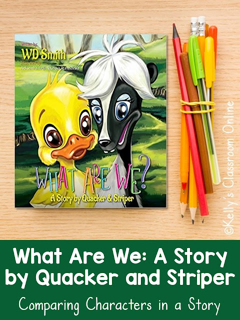 Compare and contrast the main characters in What Are We? A Story by Quacker and Striper, written by WD Smith. Language arts lesson plan K-3rd grade.