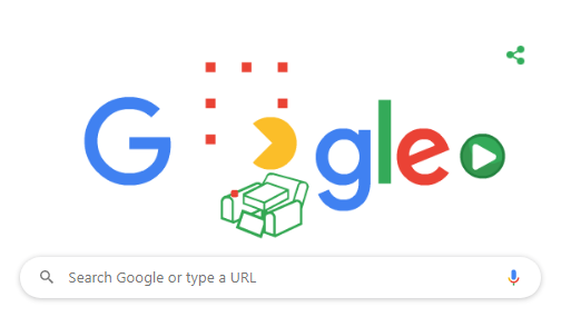 Google Doodle of PAC-MAN game created by Google