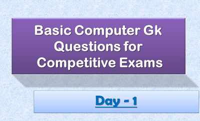 Computer Gk Questions Day1 2020-21